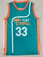 9310c42783fb New Semi Pro Jackie Moon 33 Flint Tropics Basketball Jersey Green All  stitched