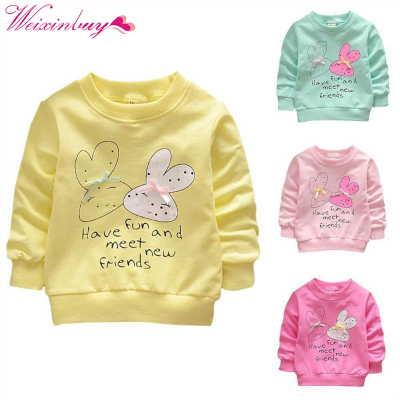Lovely Baby Girls outwear Cute rabbit Coats Button Warm Toddler Children Clothing For 0-36 M alilo g6 cute rabbit style children s english song