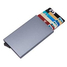 Aelicy высококачественный алюминиевый мульт-держатель для карт, Одноцветный автоматический всплывающий Противоугонный чехол для банковских карт, мини-чехол для визиток