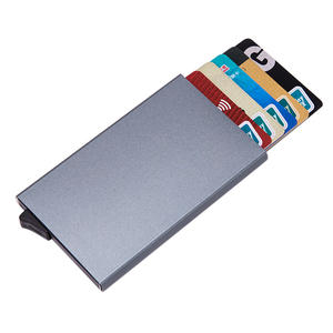 Aelicy Card-Box Business-Card-Case Anti-Theft-Bank Pop-Up Alumina Mini Solid-Color Automatic
