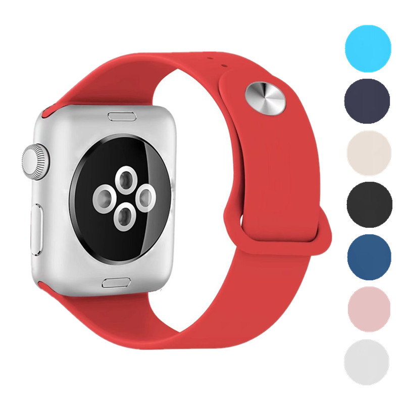 ASHEI Watch Sport Band for Apple Watch Strap Series 3 42mm Soft Silicone Replacement Wrist Bands for iWatch 2 1 38mm Watchbelt large small size sport silicone replacement watch wrist strap bands for samsung gear fit 2 r360 watch band conjoined watch band