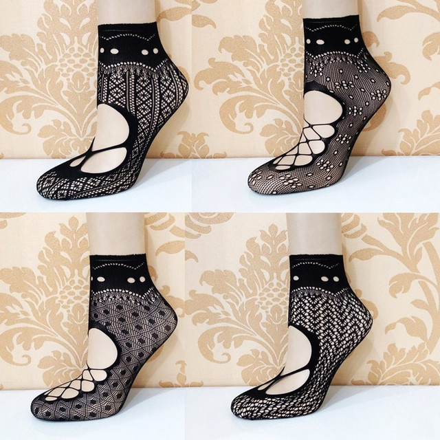 10 Pairs Ultrathin Fishnet Socks with Lace
