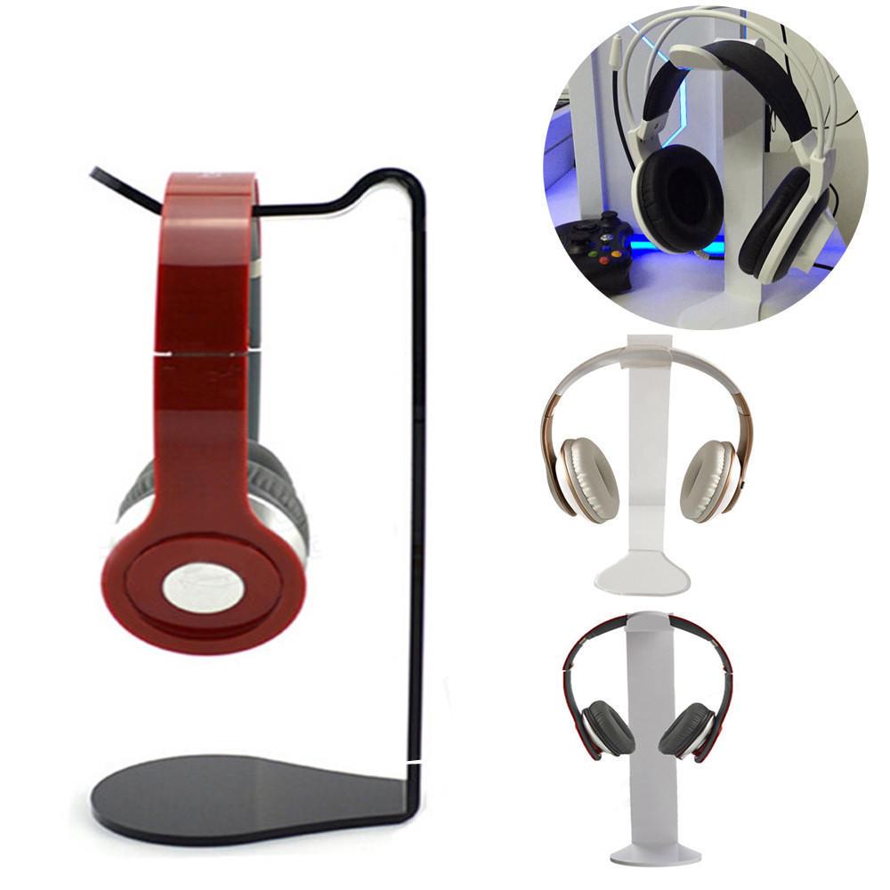 Universal Acrylic Earphone Headset Hanger Holder Headphone Desk Display Stand