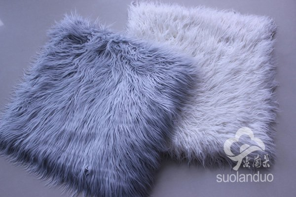 Free shipping brand new long faux fur chair cushion  seat