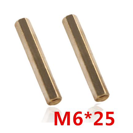 M6x25 Hex nut screw Hex Head Brass Threaded Pillar Female PCB Stand off Spacer