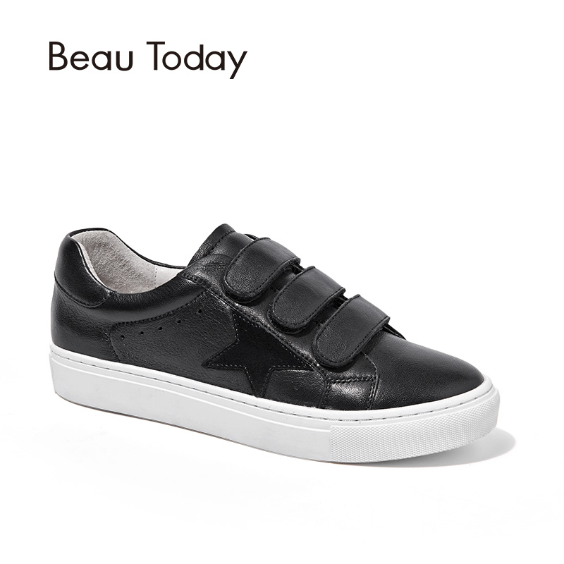 BeauToday Genuine Leather Flats Women Fashion Round Toe Cow Leather Ladies Shoes with Box 29022 intex 29022 59953