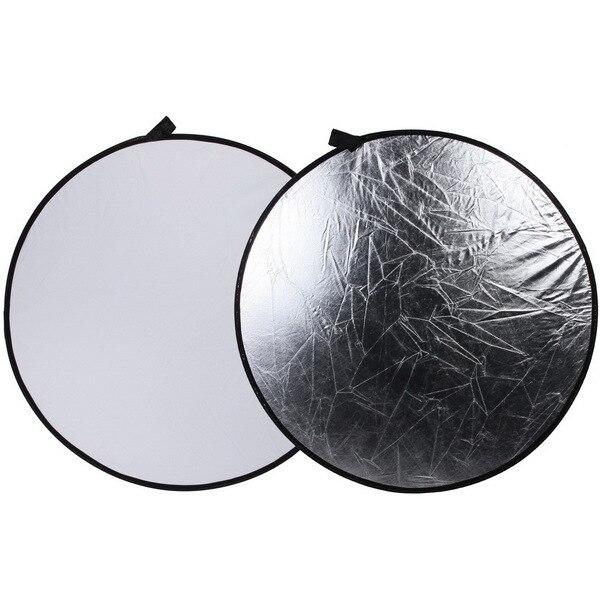 43 110cm 2-in-1 Light Mulit Collapsible Disc Photography Camera Reflector Studio Silver/White светоотражатель godox rft 01 gold silver 110cm
