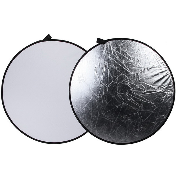 43 110cm 2 in 1 Light Mulit Collapsible Disc Photography Reflector Silver White
