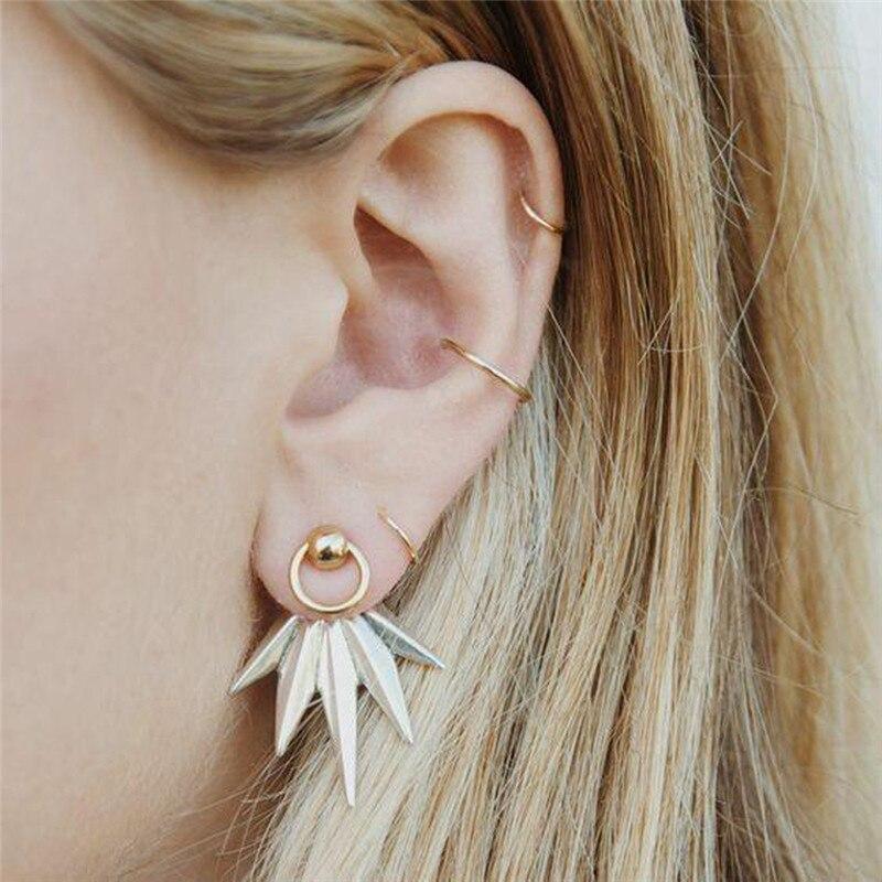 5pcs Ear Wrap Earcuff Vintage Brincos Leaf Clip On Earrings No Pierced Ear Cuff Pendientes De Clip Earrings