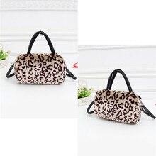 2016 Winter frauen Leder Messenger Pelzbeutel Handtaschen Schulter Umhängetasche Mode Vintage Leopard Taschen Kupplung schulranzen Handtasche