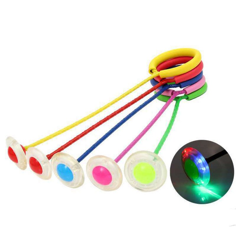 Flash Jumping Foot Force Ball Kids Outdoor Fun Sports Toy LED Children Jumping Force Reaction Training Ball Child-parent Games