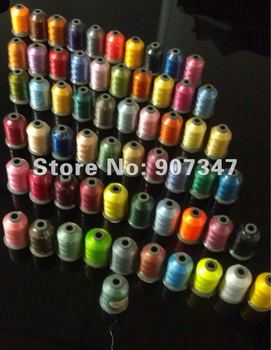 free shipping embroidery thread kits 61 colors 61 cones with 1000m,embroidery yarn for machine embroidery use