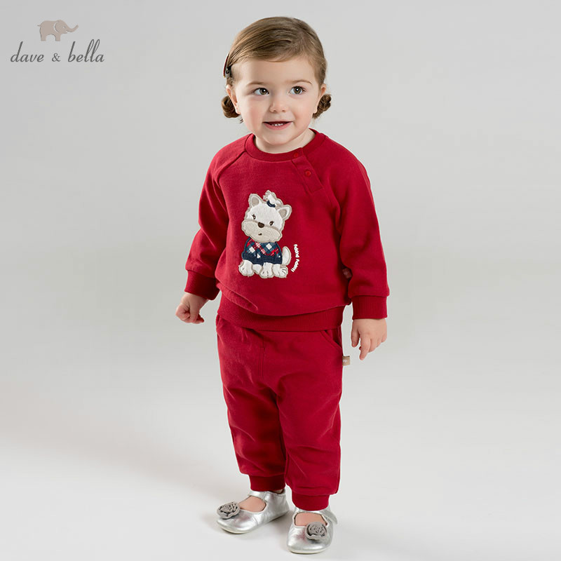 DBM9439 dave bella spring infant toddler baby girls fashion clothes kids long sleeve clothing sets children