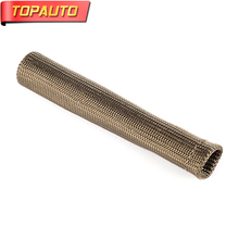 TopAuto 8pcs 15cmx2.2cm Spark Plug Boots Cover Basalt Wire Exhaust Shield Protector Manifold Wrap Sleeve Car Accessories