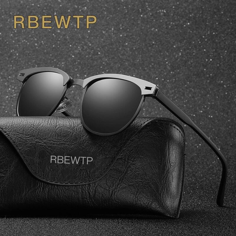 RBEWTP Unisex Retro Vintage Men's Sunglasses Polarized Driving Sun Glasses Oculos Male Eyewear Accessories For Men/women 0911