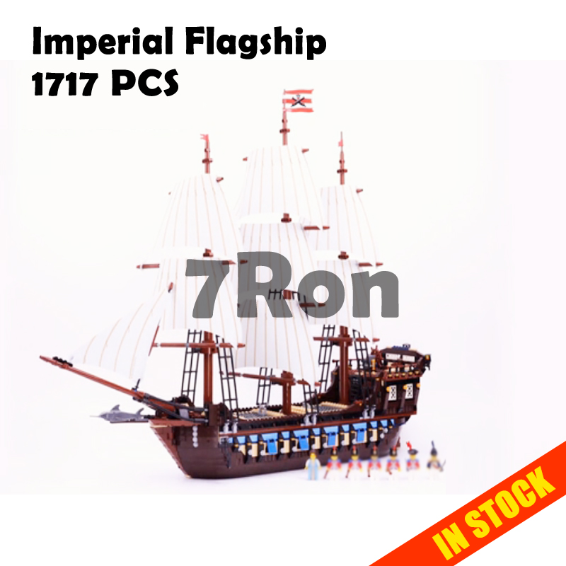 Model building toys hobbies 22001 Compatible With lego Pirates of Caribbean Blocks 10210 Imperial Flagship Educational DIY Brick
