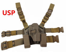 Tactical MilitaryHK USP Compact Gun Holster Airsoft Leg Holster Shooting Hunting Accessories Right Handed Pistol Thigh Holster