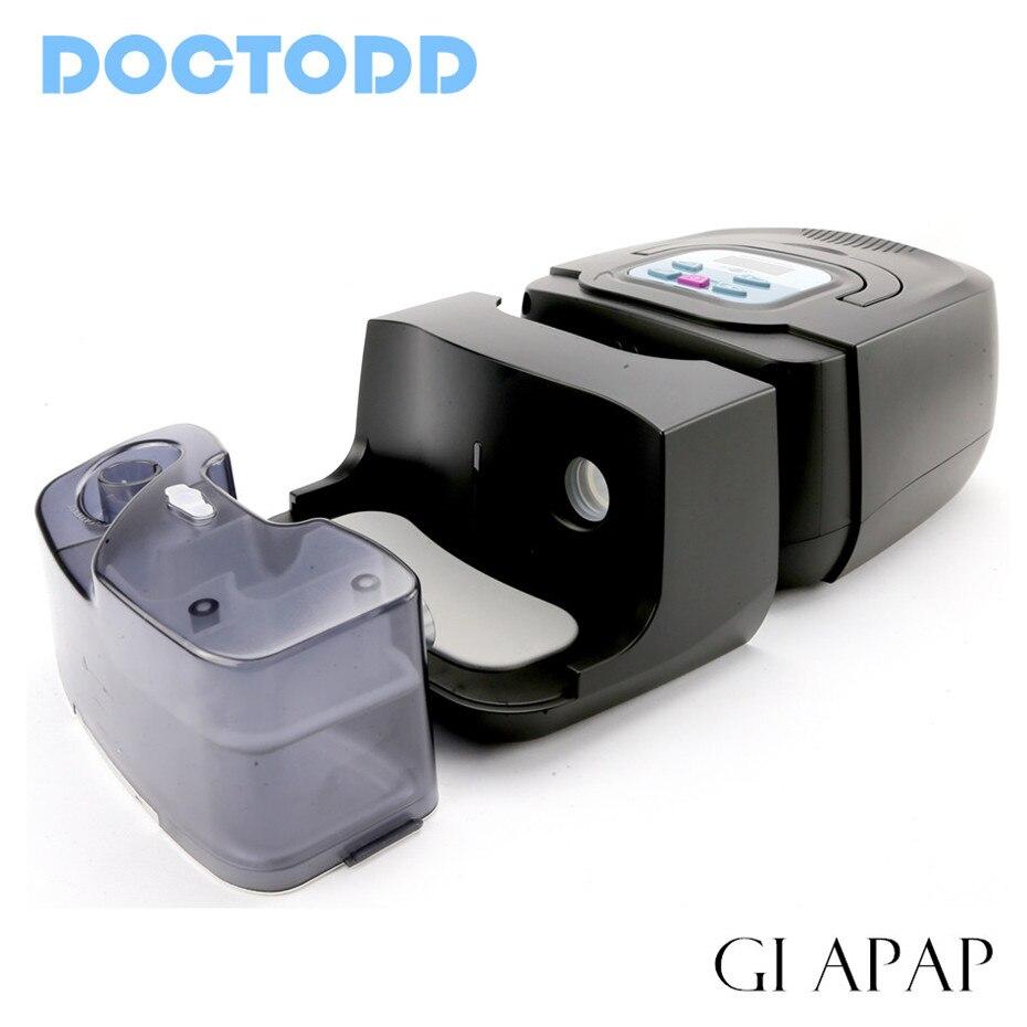 Doctodd GI APAP Auto CPAP GI APAP Machine pour Sommeil Ronflement et L'apnée Du Thérapie APAP Avec Humidificateur Masque Nasal Tube et Sac