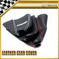 Car-Styling Red/black/white For Spoon Sports Gear Shift Knob Cover PU Leather Gaiter Sleeve Glove Collars For Honda DC5 CRV JAZZ