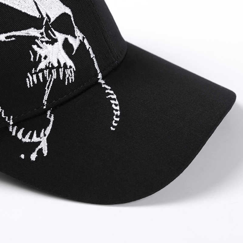 248c12b803d ... High Quality Unisex 100% Cotton Outdoor Baseball Cap Skull Embroidery  Snapback Fashion Sports Hats For ...