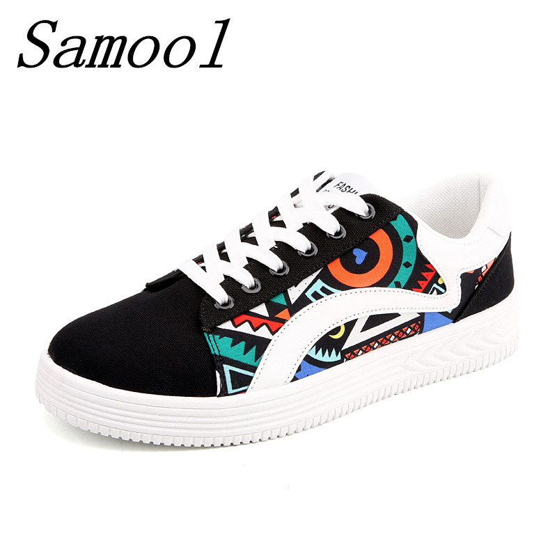 Canvas Shoes Platforms Lace Up Women Casual Shoes Mixed Colors Women Flats Comfortable Lovers Chaussure Femme Zapatos Mujer jx4 renben women canvas shoes 2017 fashion flats women casual white shoes breathable canvas lace up candy colors shoes 6e06