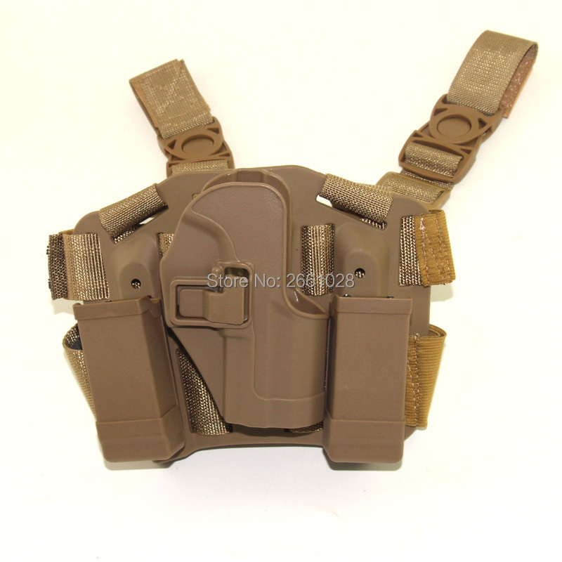CQC Tactical Quick USP Compact Pistol Drop Thigh Leg Gun Holster Airsoft Hunting Duty Holster W Mag Pouch For H&K USP