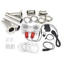 2 5 Inch 2Sets Electric Stainless Exhaust Control Valve With Remote Control One Remote Control Two