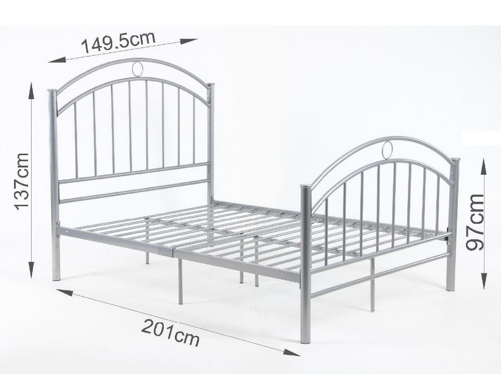 4ft8 betty double metal bed frame new bedstead betty - All in one double bed ...