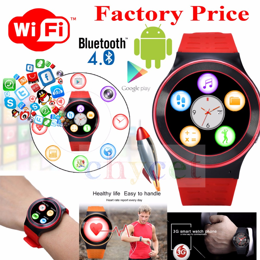 New HYC S99 Android 5 1 Smart Watch MTK6580 Quad Core Support Google Voice GPS Map