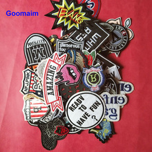 5pcs iron on cartoon patches for clothing embroidery applications badges cloth tactical appliques