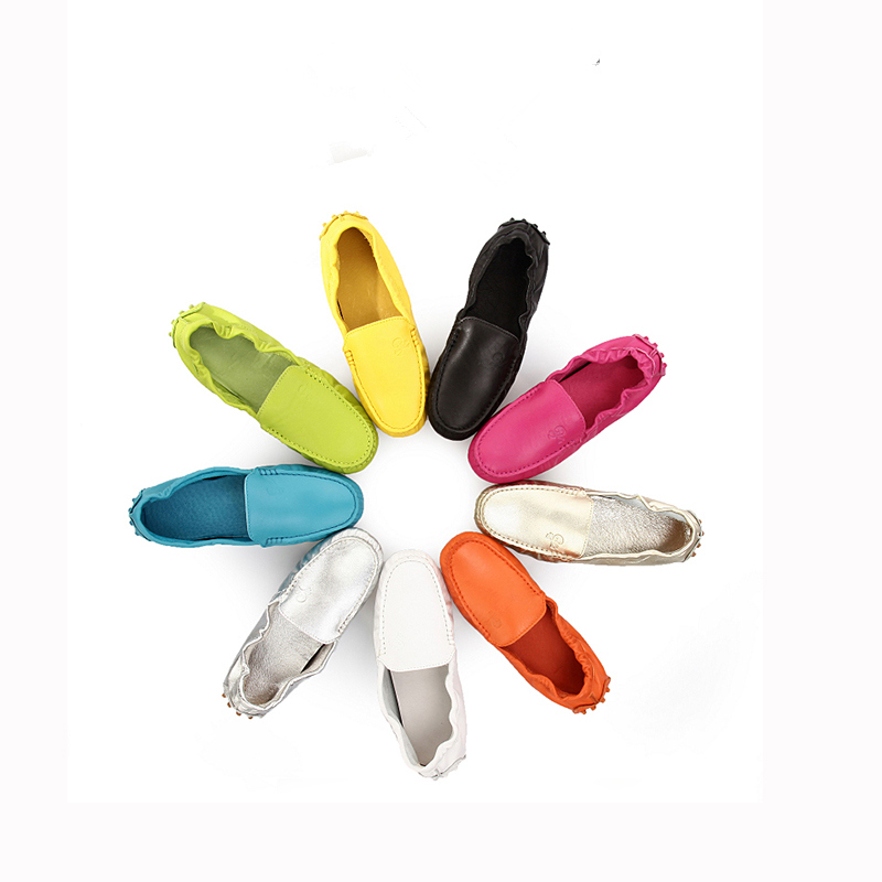 ФОТО TOP Quality  Ladies Genuine Leather Moccasin Loafer penny Loafer Ballerina Flat Driving Shoes Slip-ons