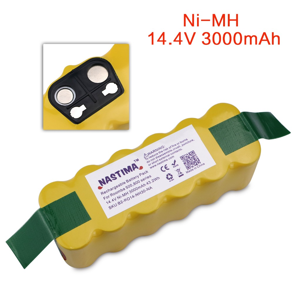 NASTIMA Replacement 3000mAh Battery XLife Extended Compatible with iRobot Roomba 500 600 700 800 Series Vacuum