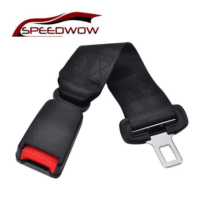 SPEEDWOW Universal 37cm Car Seat Seatbelt Safety Belt Extender Extension 22mm Buckle