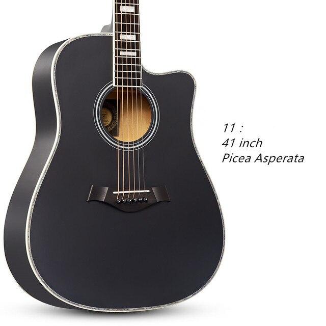 41 Polegada Cordas Da Guitarra Folk Guitarra Acústica Iniciantes Amantes Da Música Picea Asperata Rosewood Botão Fechado