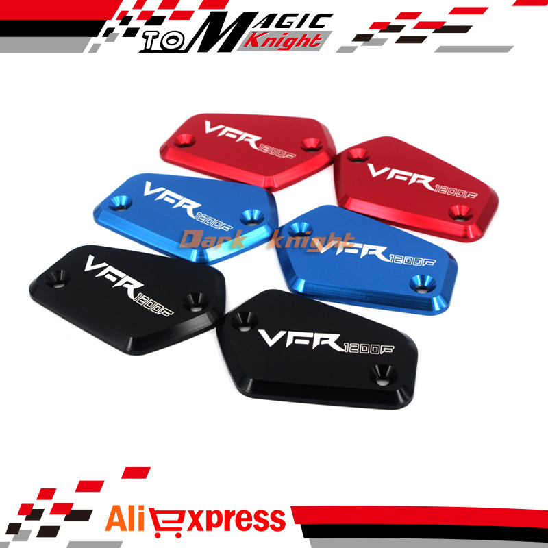 For HONDA VFR 1200/F VFR1200F 2010-2016 11 12 13 14 15 Motorcycle Front Brake Clutch Master Cylinder Fluid Reservoir Cover Cap R for honda cbr600rr 07 15 cbr1000rr 04 15 cb1000r 08 15 red motorcycle front brake master cylinder fluid reservoir cover cap