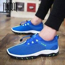 MUMUELI Dark Blue Gray Green 2019 Mesh Designer Casual Breathable Shoes Men High Quality Fashion Luxury Flat Brand Sneakers 6640