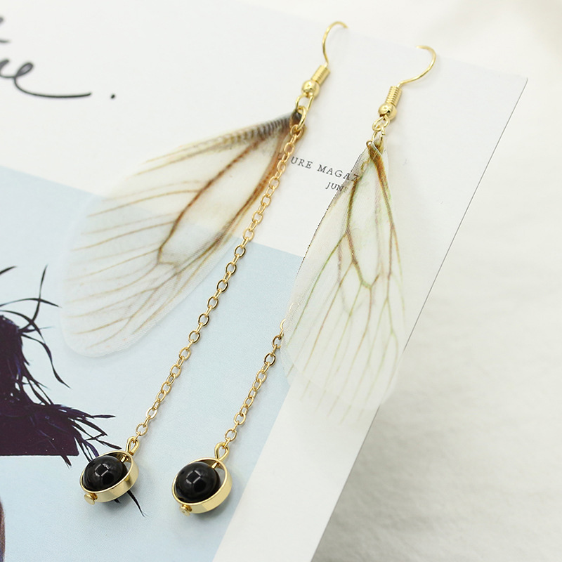 Fairy earrings Hand made minimalist wind wings earrings Animal Earrings Female Ear Jewelry Brincos Fashion Jewelry Accessories