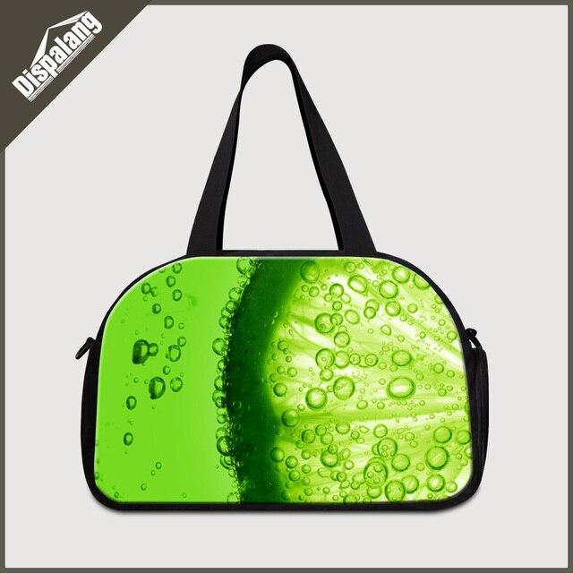 Dispalang novas mulheres multifuncionais viajar sacos de viagem duffle sacos de viagem bonito estampas de frutas doces creative design senhora duffle bag