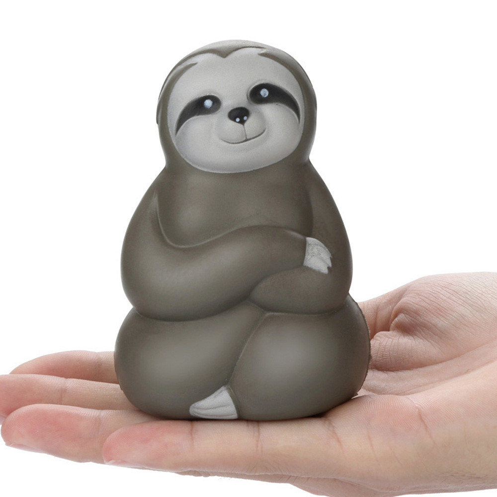 Drop Shipping Environmentally PU Super Slow Rising Adorable Squishies Soft Sloth Slow Rising Fruit Scented Stress Relief Toys