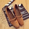Лето ретро коренастый высокие каблуки пряжки квадратный носок закрытый носок замшевые туфли мелкая рот черный коричневый модельер простые обувь