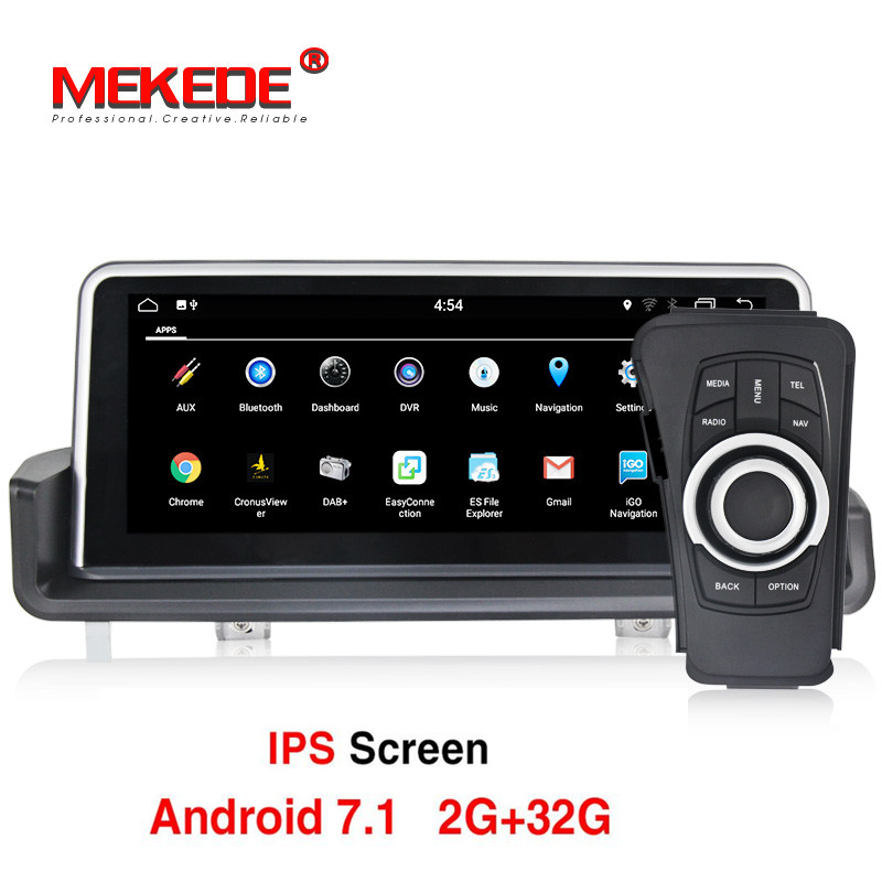 10.25 pollice Car Multimedia Player GPS Android 7.1 1 Din DVD Automotivo Per BMW/3 Serie E90/E91 /E92/E93 2 gb di RAM Radio FM Wifi