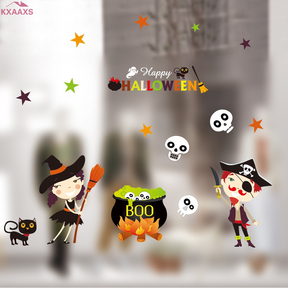 halloween static electricity removable wall stickers safe and non toxic halloween decoration wall stickers home