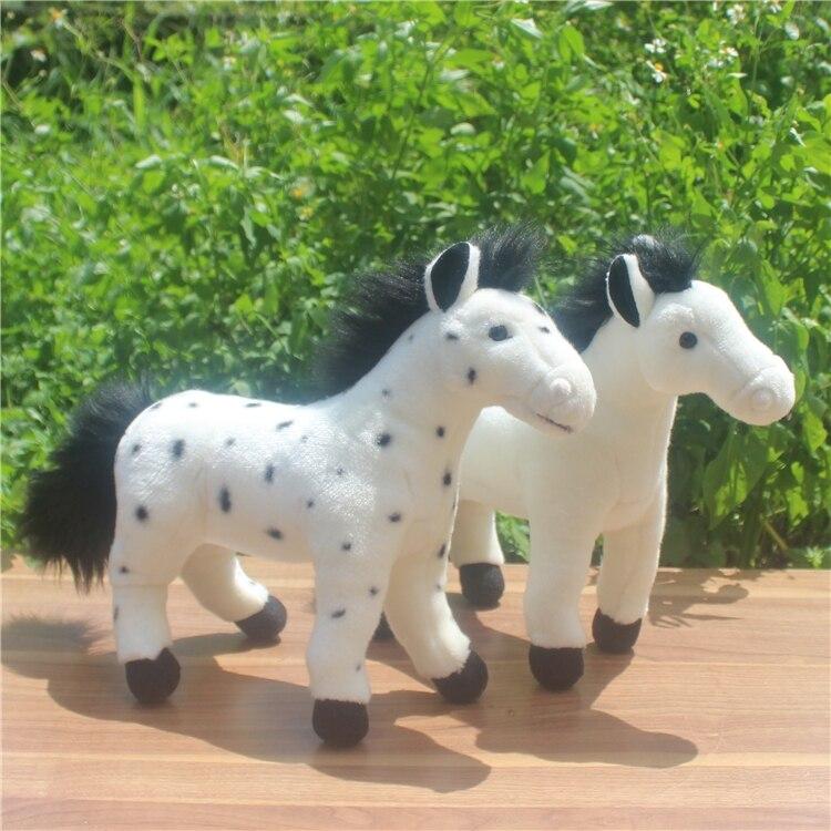 Grand Jouet Blanc Cheval de Poupée Enfants Cadeau En Peluche Peluche Animaux Jouets Décoration de La Maison Rare