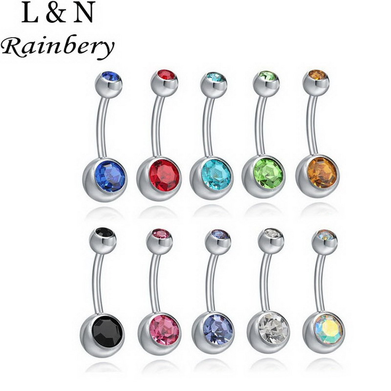 Rainbery 10pc Mix Colors Ranbom Fashion Anti Allergy Simple Lounger Titanium Earrings Ear Nail Belly Button Rings Navel Piercing Clearance Price Jewelry Sets & More