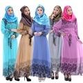 Turca Abaya Para Las Mujeres de Moda Impresa Vestido de Gasa Vestidos de Las Mujeres Elegantes Vestido de Turco Árabe Musulmán Ropa de Mujer