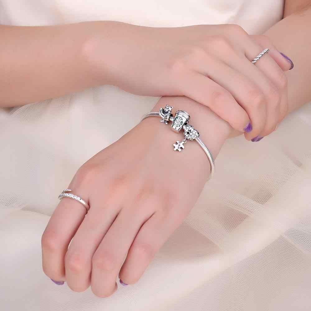 Jewelrypalace jigsaw puzzle 925 contas de prata esterlina encantos prata 925 original para pulseira de prata 925 original jóias fazendo