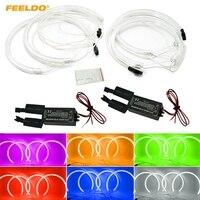 FEELDO 4pcs/set Car Headlight CCFL Angel Eyes Light Halo Rings Kits Light For BMW X5(E53) DRL 6 Color Optional