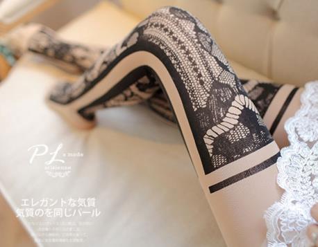 Princess sweet lolita Japanese stockings in spring and autumn,thin flesh colored sexy anti hook silk velvet pantyhose LKW004