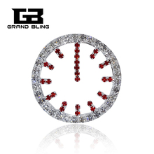 Grandbling Brand Rhinestone Clock Brooches Jewelry Cute Gift