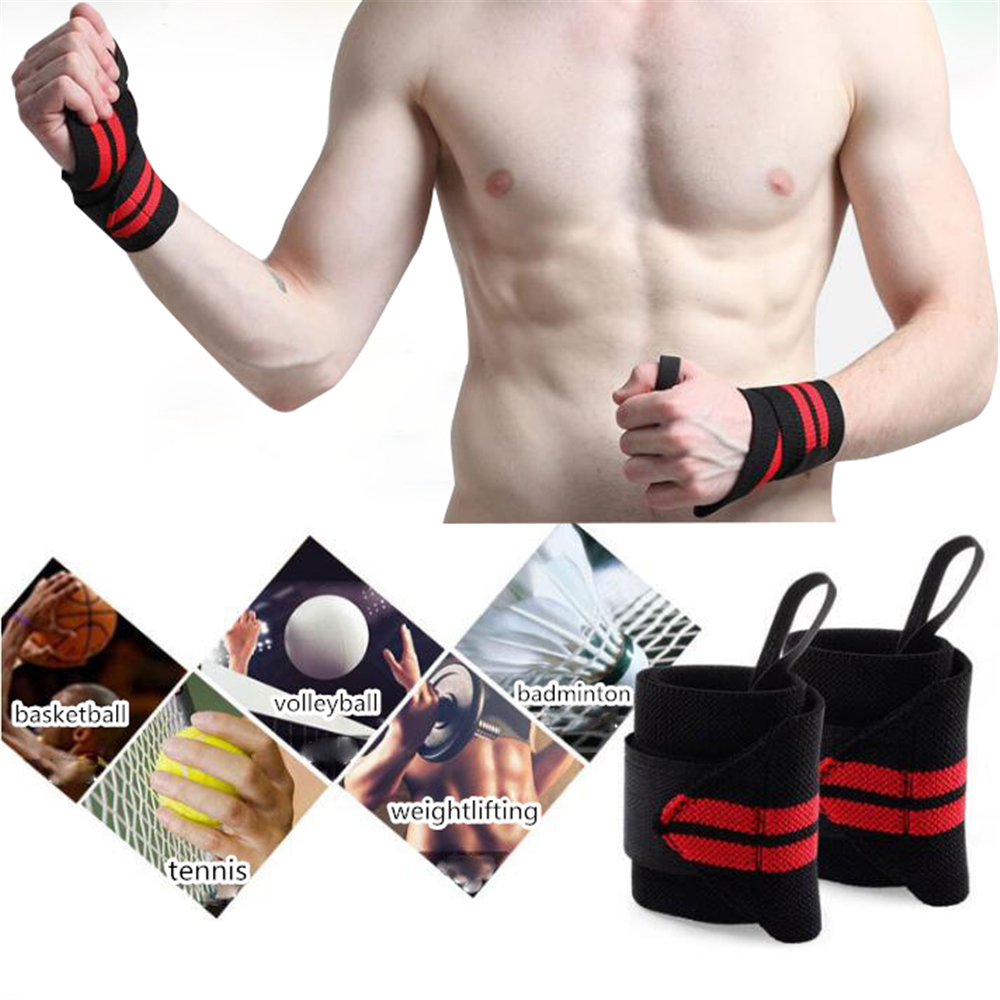 Fitness Bandage Brace Fashion Striped Wrist Support For Sportts Weightlifting Basketball Tennis